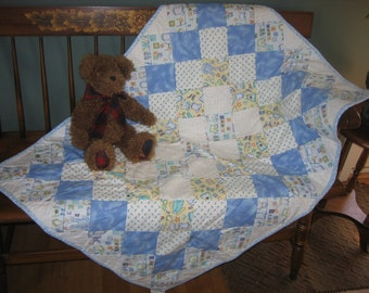 Baby Boy Cozy Flannel Quilt