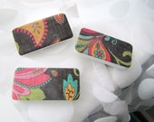 Magnets.  Magnet Set.  Brown.  Aqua Paisley print.  Locker decor TEEN. Under 10 gift