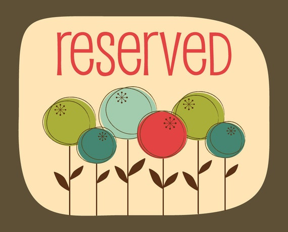 RESERVED FOR BETHANY