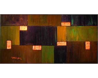 ORIGINAL PAINTING Abstract Large Textured 24x48  Modern Art by Thomas John