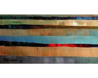ORIGINAL PAINTING Fine Art Abstract Large 24X48 Modern Impasto by Thomas John