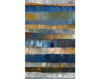 ORIGINAL ABSTRACT Painting Modern Colors Large  Art 24X48 Handmade Wall Decor By Thomas John