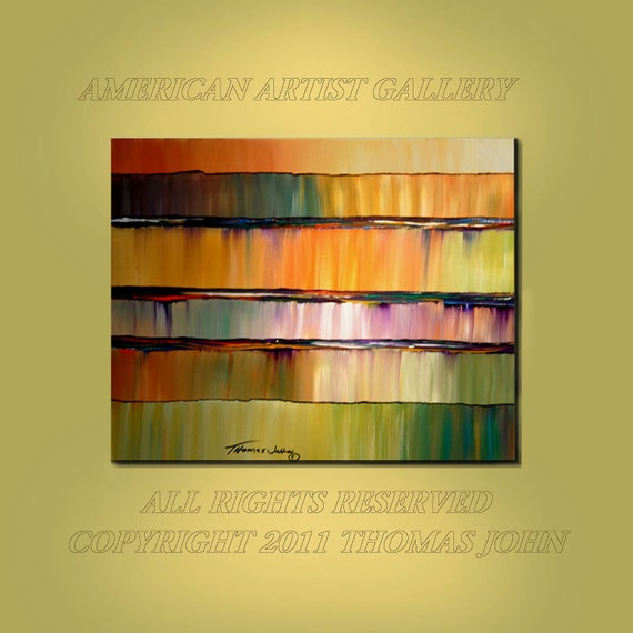 ORIGINAL PAINTING  Modern Colors Abstract Large 24X30 Gallery Wrap Canvas Fine Art  By Thomas John