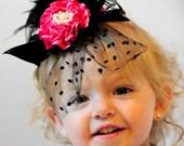 Leopard Mini Top Hat ,Fascinator,Photo Prop for Women-Baby-Little girls hat.