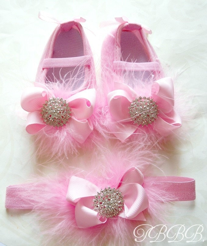 princess baby girl pink crib shoes and by thebabybellaboutique