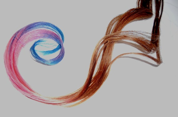 Hair Extensions - iTip -Ready to Ship - 20inch- Ombre Pastel Tips- Real Hair - 5 ITIP Extensions - Every Color of the Rainbow Available