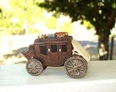 Stagecoach, ceramic stagecoach, miniature ceramic stagecoach