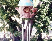 Windchime - cermic windchime, birdhouse and robin chime