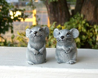 Mice, Miniature ceramic mice, mice pair