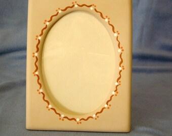 Frame, ceramic photo frame - 6 x 8 vertical photo frame