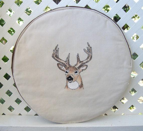 fabric steering wheel cover - buck deer