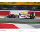 Alain Prost Williams Renault 1993 Limited Edition Art Print