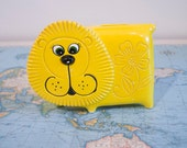 Shabby Little Yellow Lion Bank-- SALE