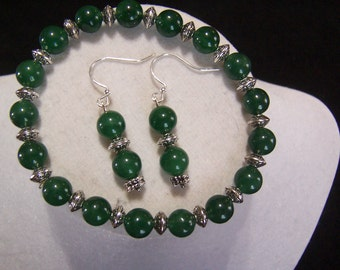 Dark Green Stretch Bracelet