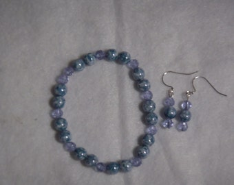 Light Blue Speckled Stretch Bracelet