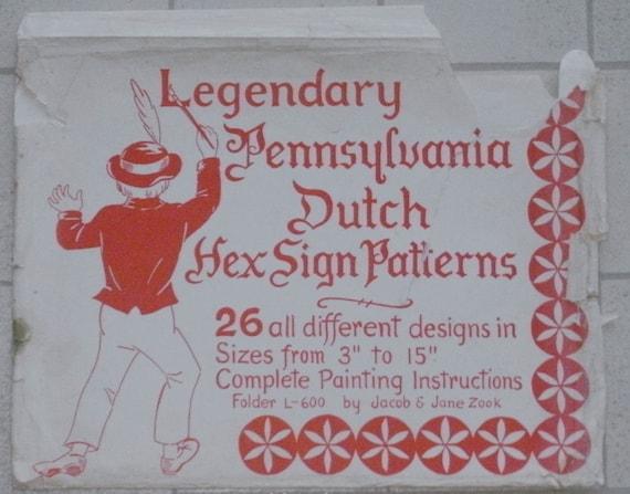 Pennsylvania Dutch Hex Sign Patterns - 26 Different Designs - 1964 - Zook - Folder L-600
