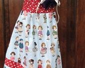 Summer Halter Dress girls size 4t Americana 4th of July Vintage print
