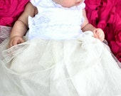Infant Vintage Inspired Tulle and Lace Christening Gown