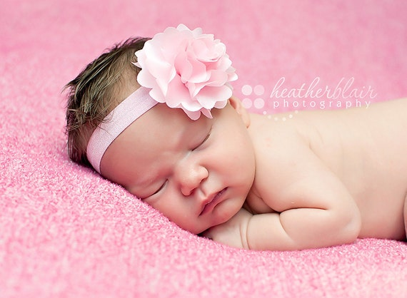 baby headbands pink satin flower headband newborn baby headbands pink satin flower headband newborn