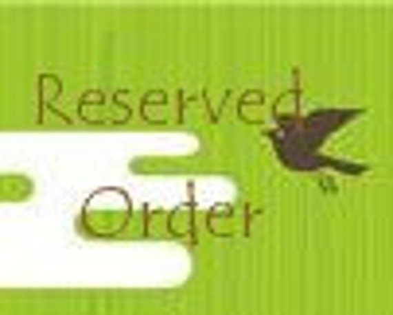 Reserved for Tabitha