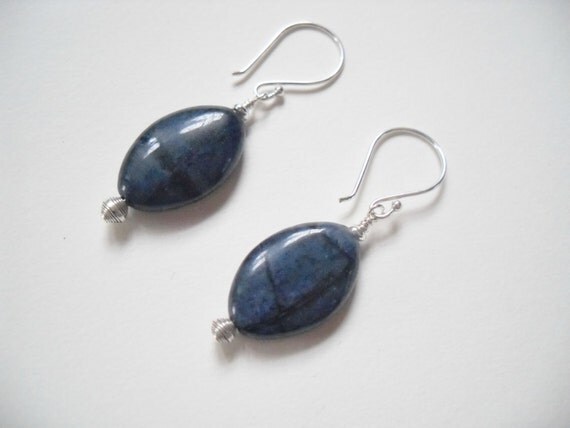 Dumortierite Egyptian Earrings