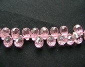 Rose Pink Quartz, Teardrop Briolettes