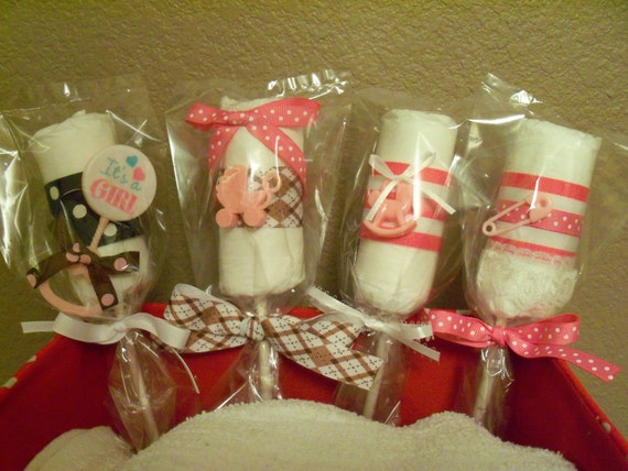 Baby Girl Diaper Lollipop  - an adorable baby shower gift, Available now