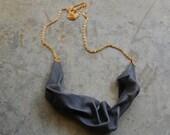 Antique Blue Gentle Pleats Necklace