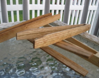 Oak Handmade Hardwood Kitchen Tongs  Great for Toast or Bacon