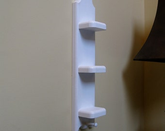 Pine Shelf for our Love Chunks or other Small Trinkets with Shaker Peg White - Nikki Shelf