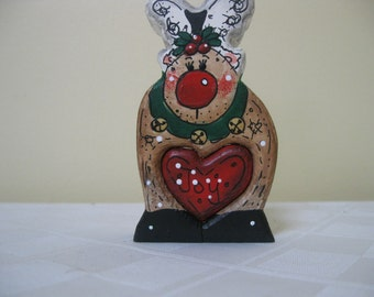 Christmas in July Decoration Reindeer Love Chunk