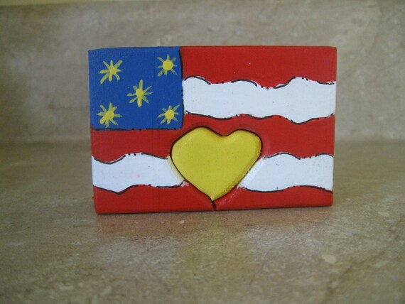 USA Flag  Love Chunk