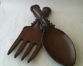 Giant Fork and Spoon Vintage Ceramic