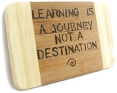 Inspirational plaque.  Learning is a Journey. ON SALE  Graduation.