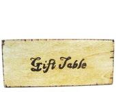 Rustic Wedding Decor. Wood burned wedding plaque for your Gift table. Barnyard Chic.