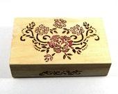 Wedding wish box with a pink Victorian rose.  ON SALE.  Wedding or Jewelery Keepsake box.