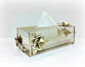 Kleenex Holder Regency Gold Metal Tissue Box Cover