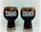 Pepsi Cola Glasses Rounded Top