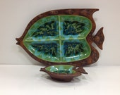 Treasure Craft Fish Dishes Turquoise & Green