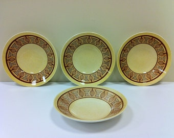 Soup Bowls Taylor Smith Honey Gold Vintage Dishes