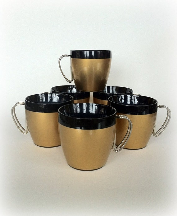 Insulated Coffee Mugs Mid Century Modern Style