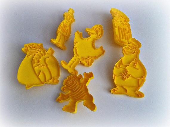 Vintage Cookie Cutters Sesame Street Characters