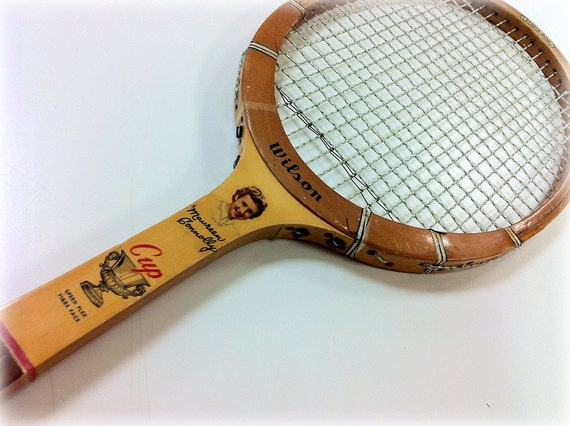 Reserved for Laurie Vintage Tennis Raquet Wilson Famous Players Connolly