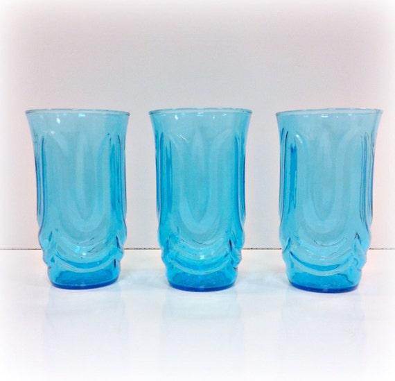 Vintage Anchor Hocking Blue Glassware