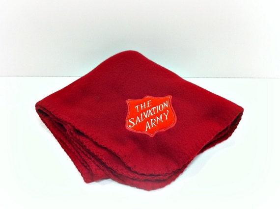 Salvation Army Blanket Red Fleece