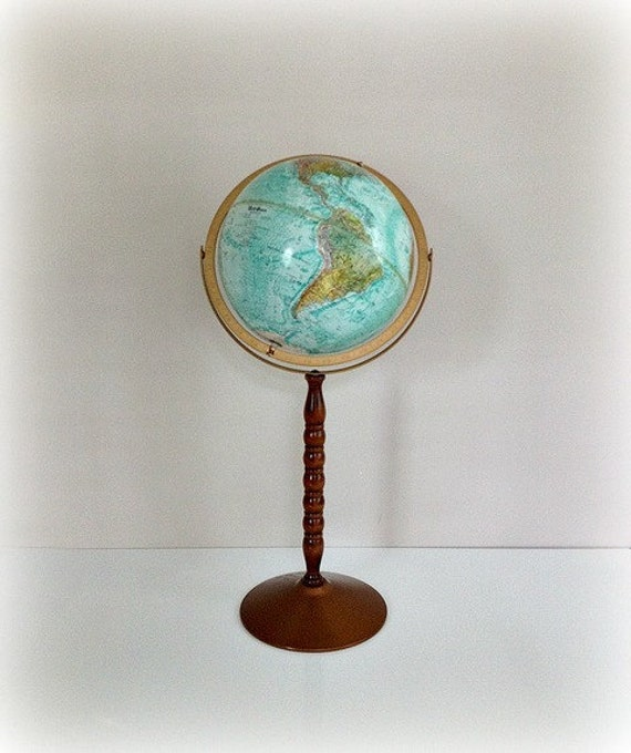 VIntage Floor Globe Replogle 80s