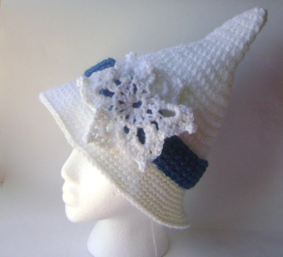 Hand Crocheted Hat, The Winter Witch