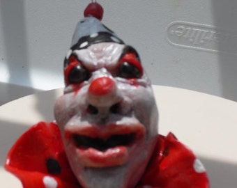 Scary Red Clown Ornament