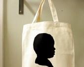 Repeat Customer Small Custom Silhouette Tote Bag