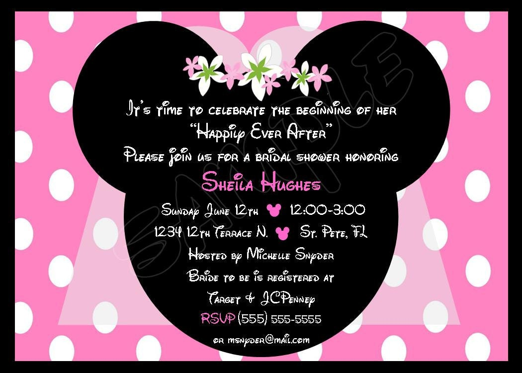Customized Minnie Mouse Invitations with best invitations sample